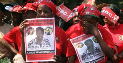 FILE PHOTO: Rebecca Mafikeni funeral