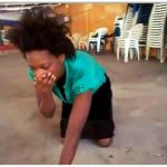 Woman vomits money  during deliverance