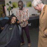 Prince Charles visits Zimbabwean man's shop