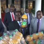 Schweppes gives President Mugabe 1200 litres Mazoe as a birthday gift