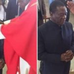 Troubled Mnangagwa seeks church support to topple Mugabe, kneels before Bulawayo Catholic priest