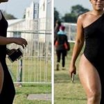 PICTURES: Zodwa Wabantu's dress causes a stir