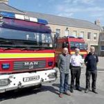 Jersey old fire engines  on their way to Zimbabwe
