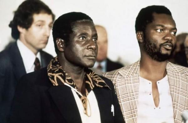 Mugabe with Rugare Gumbo