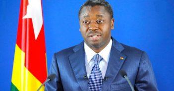 Togo's president Faure Essozimna Gnassingbe