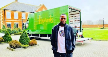 Harrods delivers at Prophet Angel's house in the UK