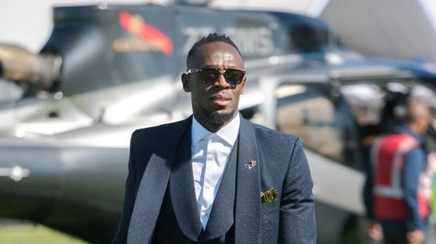 Jamaican superstar sprinter Usain Bolt arrives in style at the Sun Met at Kenilworth Racecourse on Saturday. Photo: @usainbolt via TwitterJamaican superstar sprinter Usain Bolt arrives in style at the Sun Met at Kenilworth Racecourse on Saturday. Photo: @usainbolt via Twitter