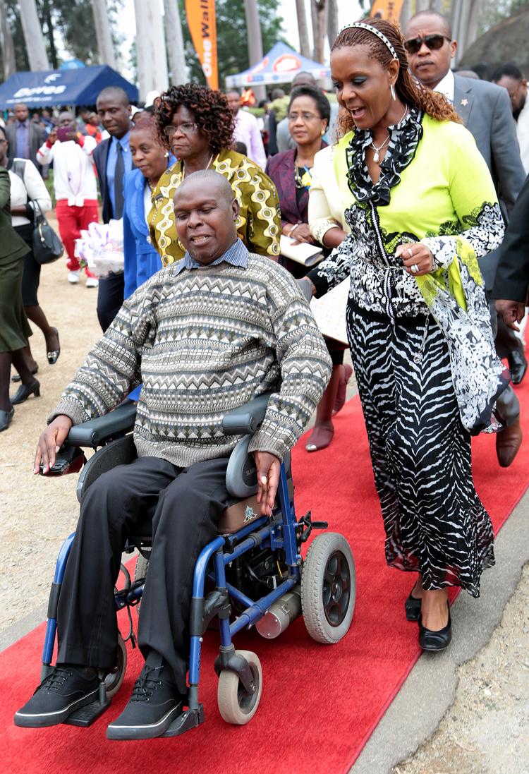 Grace Mugabe consoles Mnangagwa's bedroom victim, Godfrey Majonga
