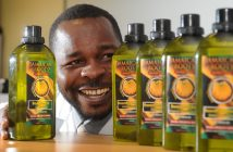 Secured huge orders for his homemade shampoo and skin oil ... Wellington Chaparadza