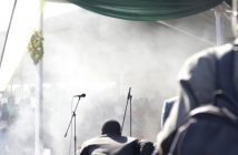 Smoke rises after an explosion at a ZANU-PF rally in Bulawayo [The Associated Press]
