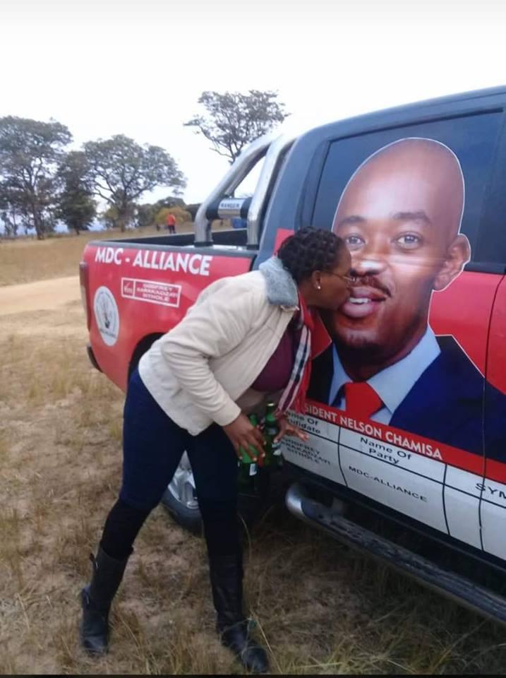 Woman Kisses Chamisa