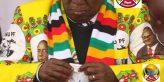 Zimbabwean President Emmerson Mnangagwa taking medication