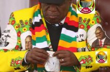Zimbabwean President Emmerson Mnangagwa taking medication