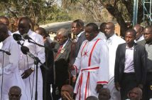 President Emmerson Mnangagwa at VaPostori Shrine