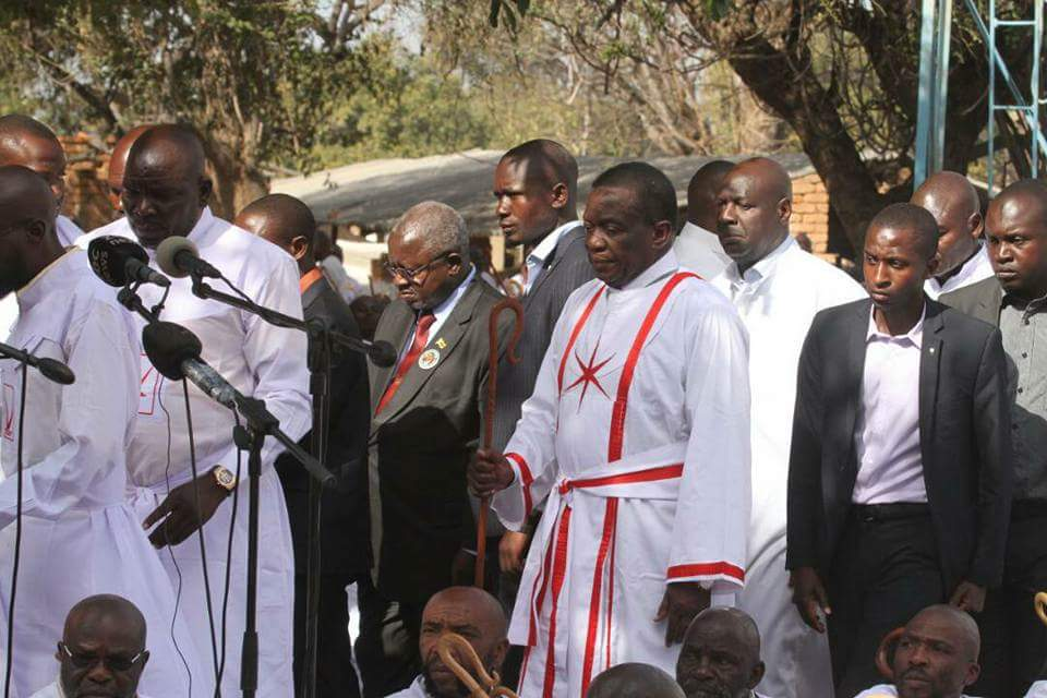President Emmerson Mnangagwa at VaPostori Shrine