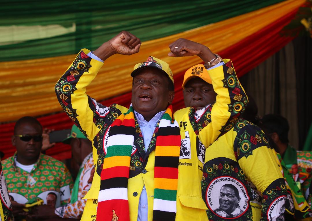Mnangagwa's narrow election victory was being challenged by his MDC Alliance challenger Nelson Chamisa