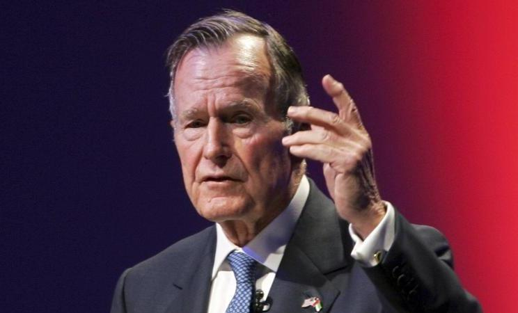 Former US president George HW Bush