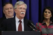 US Secretary of State Mike Pompeo, US National Security Advisor John Bolton and US Ambassador