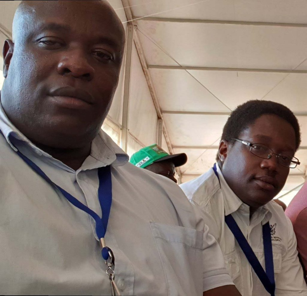Gone ... Caesar Zvayi and Mabasa Sasa seen at the Zanu PF conference in Esigodini last week (Picture: Twitter)