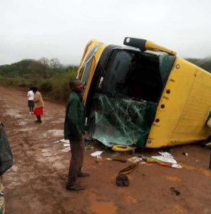 Inter Africa bus overturns, passengers injured