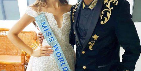 Watch : DONEL Mangena WITH MISS WORLD