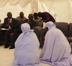 Women Kneel Before VP Mohadi Who Recently Wanted to Kill His ex-Wife With Axe
