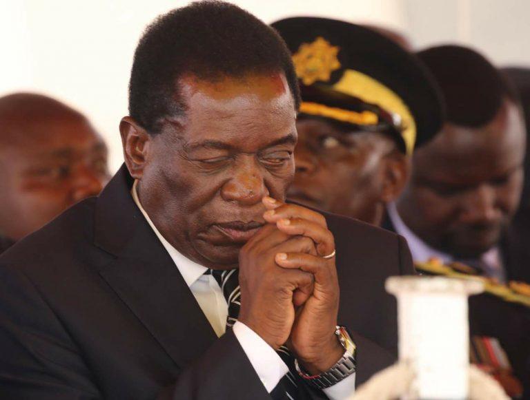 Mnangagwa prays with one eye open