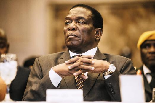 Zimbabwe's president, Emmerson Mnangagwa. Photo: Bloomberg