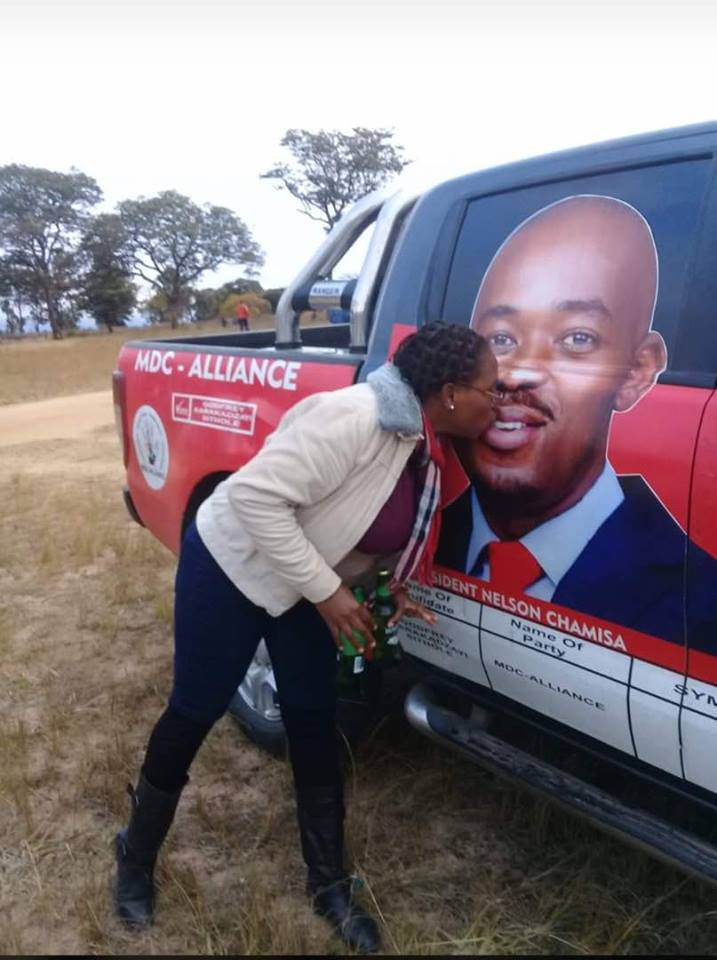 Woman Kisses Chamisa