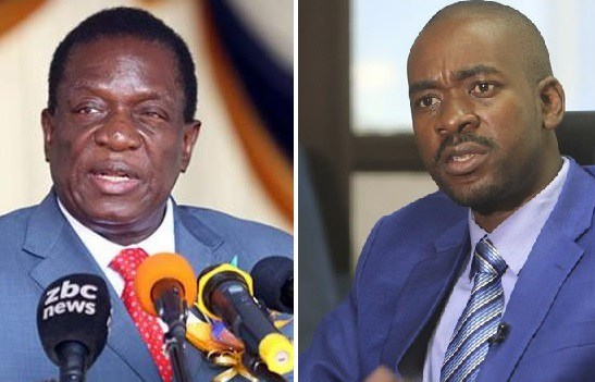 President Emmerson Mnangagwa and MDC Alliance leader Nelson Chamisa