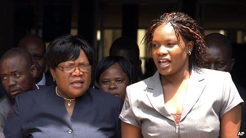 Hijacked ... Kumbirai Mujuru with her mother, the former Vice President
