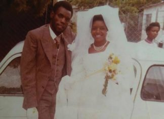 Oliver Mtukudzi and his first wife Melody