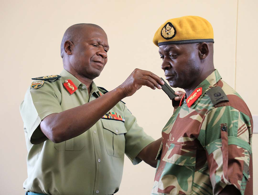 Sidelined ... Major General Sanyatwe was only promoted to the rank last December