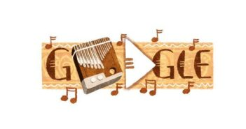 Google is paying homage to Zimbabwe's national instrument, the mbira, with a new Doodle. Image courtesy of Google