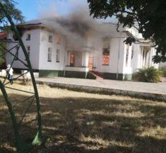 Coronavirus quarantine centre Plumtree high school  is FIRE-BOMBED